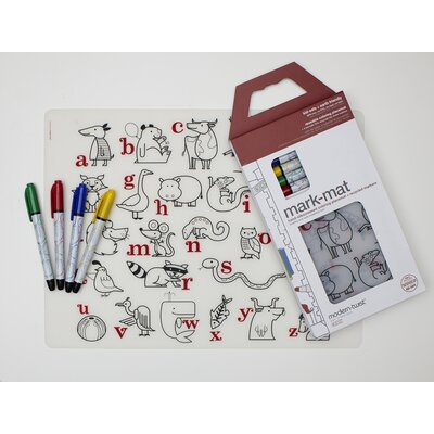 Modern-Twist Alphabet Animals and Six Dry Erase Markers Kidz Box