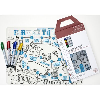 Modern-Twist Mark-mat Kid Box: Farm to Table + 4 Markers