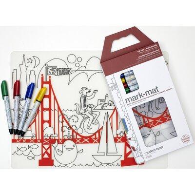Modern-twist Mark-mat Kid Box Fun on the Golden Gate Placemat