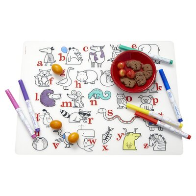 Modern-Twist Alphabet Animals and Four Dry Erase Markers Kidz Box