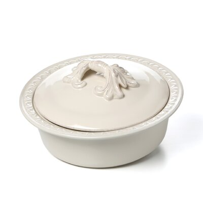 <strong>Certified International</strong> Firenze Ivory Round Baker with Lid by Pamela Gladding