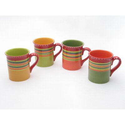 Certified International Hot Tamale 18 oz. Mugs (Set of 4)