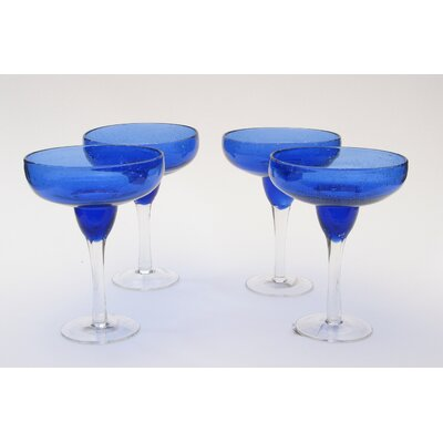 Certified International Bubble Cobalt Blue Margarita (Set of 4)
