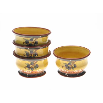 Certified International French Olives Ice Cream Bowl (Set of 4)