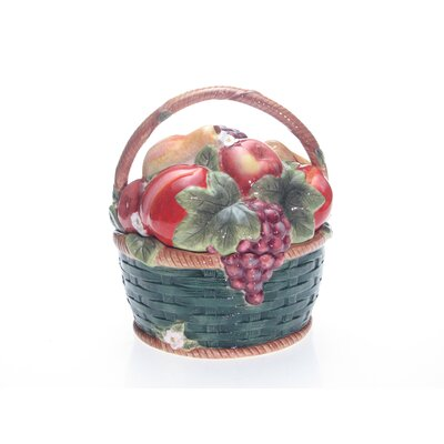 Certified International Parisian Fruit 3-D Cookie Jar by Susan Winget