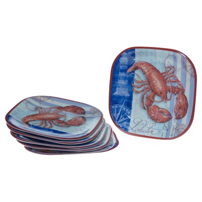"Certified International Lobster by Geoff Allen 10.5"" Plate (Set of 6)"