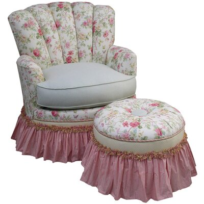 Angel Song English Bouquet Adult Princess Glider Rocker and Ottoman