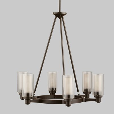 birch lane gramercy 6 light oval chandelier reviews wayfair. Black Bedroom Furniture Sets. Home Design Ideas