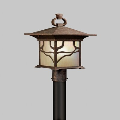 Kichler Morris  Outdoor Post Lantern in Distressed Copper