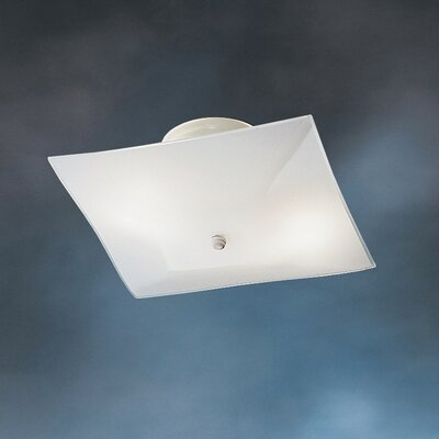 Ceiling Space Square 2 Light Flush Mount