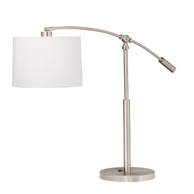 """Kichler Cantilever 26.5"""" H Table Lamp with Drum Shade"""