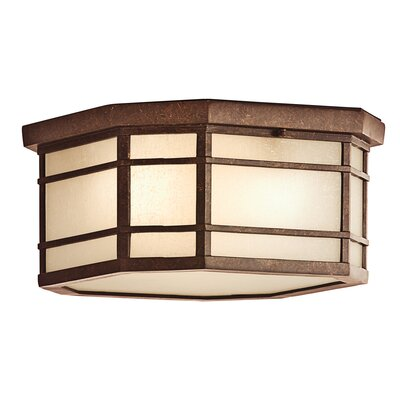 Kichler Crosett 3 Light Outdoor Flush Mount