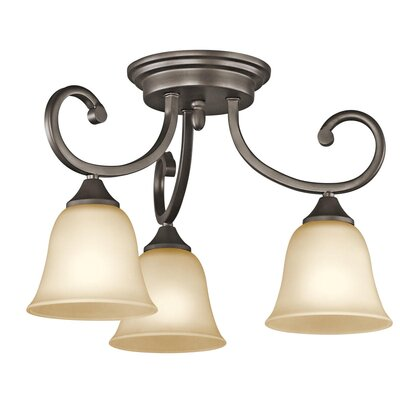 Kichler Feville 3 Light Semi Flush Mount