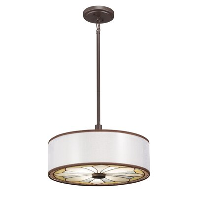 Louisa Semi Flush Drum Pendant