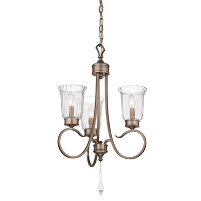 Kichler Malina 3 Light Mini Chandelier