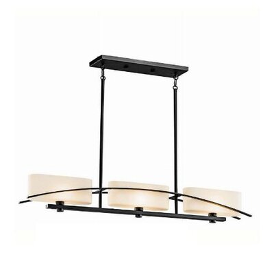 Suspension 3 Light Linear Chandelier