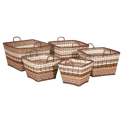 Jeffan Funstripes Square Basket in Multitude
