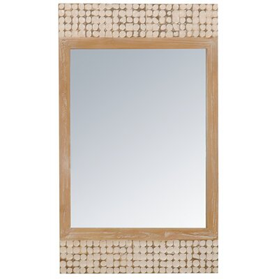Jeffan New Hampton Rectangle Mirror in White Wash