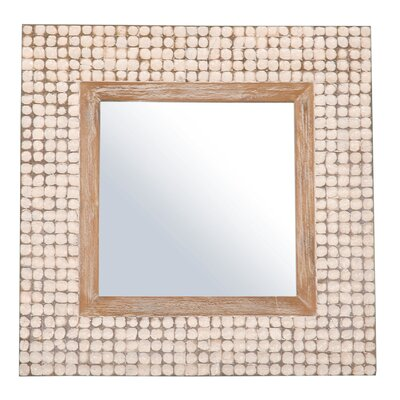 Jeffan New Hampton Square Mirror in White Wash