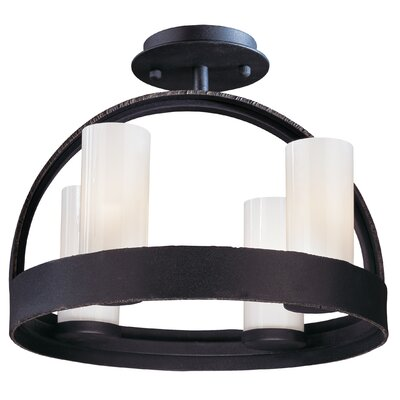 Troy Lighting Eclipse 4 Light Semi Flush Mount