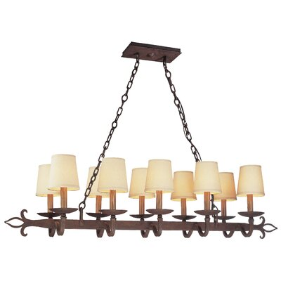 Troy Lighting Lyon 10 Light Pendant Island