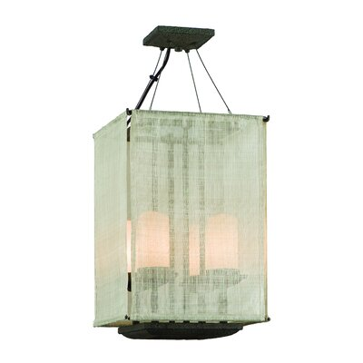 Troy Lighting Raffia 4 Light Small Entry Drum Foyer Pendant