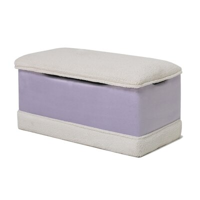 Deluxe Toy Box in Lavender Micro With Sherpa Trim