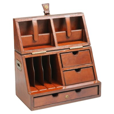 Pics photos leather desk top organizer office desk - Desk organizer ...