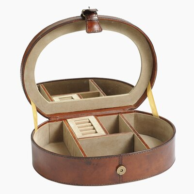 Barrister's Oval Jewelry Box