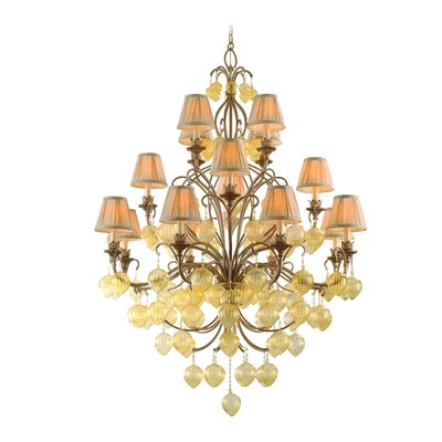 Corbett Lighting Venetian 16 Light Chandelier with Glass