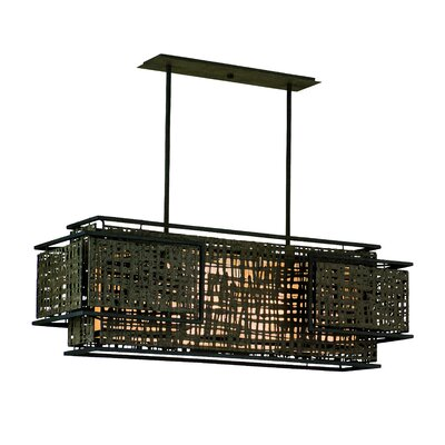 Corbett Lighting Shoji 4 Light Kitchen Island Pendant
