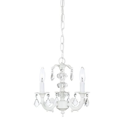 Stacked Glass Ball Chandelier in White