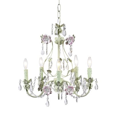 Jubilee Collection Flower Garden 5 Light Chandelier
