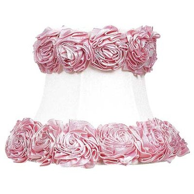Jubilee Collection Ring of Roses Chandelier Shade in White