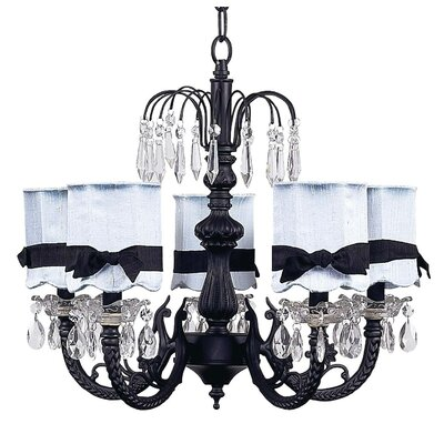 Jubilee Collection Chandelier with Optional Shade and Sash