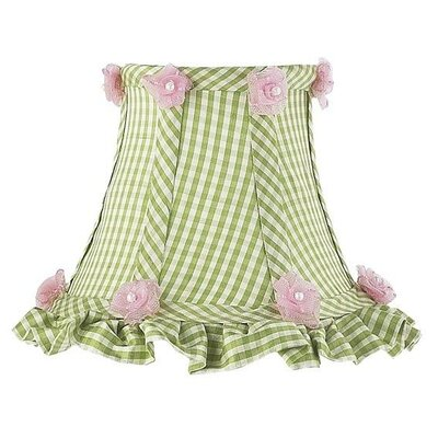 Ruffled Edge Chandelier Shade with Green Checks