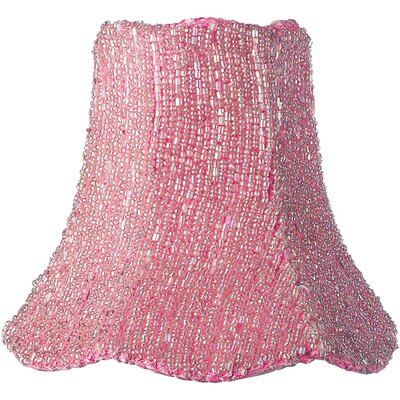 Glass Beaded Chandelier Shade in Pink