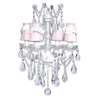 Crystal Glass Center 4 Light Chandelier
