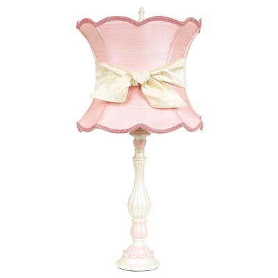Jubilee Collection Lotus Large Table Lamp with Scallop Hourglass Shade