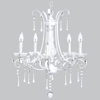 Jubilee Collection Colleen 5 Light Crystal Chandelier