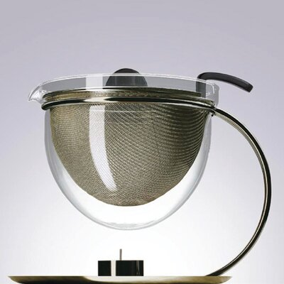 mono Mono Filio Edition 50 oz. Teapot with Integrated Warmer by Tassilo von Grolman