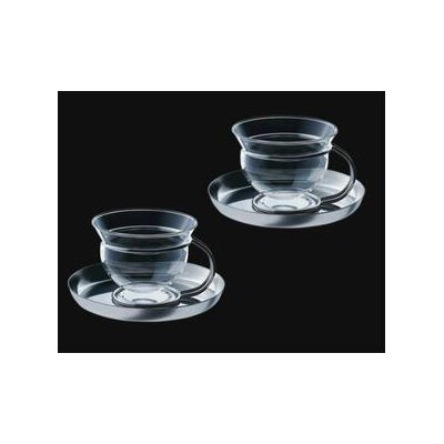 mono Mono Filio Glass Teacups with Saucer (Set of 2) by Tassilo von Grolman