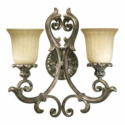 Quorum Barcelona 2 Light Wall Sconce