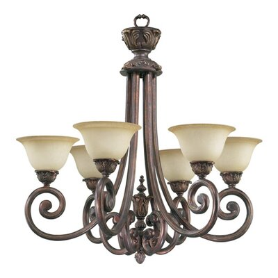 Quorum Chelsea 6 Light Chandelier