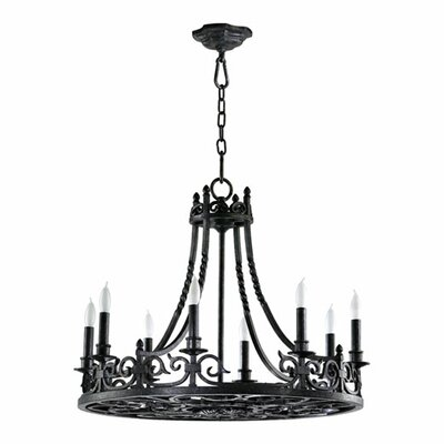 Quorum Lorenco 8 Light Chandelier
