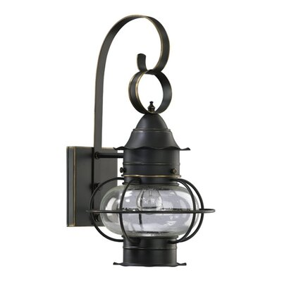 Quorum Emeril 1 Light Oval Outdoor Wall Lantern