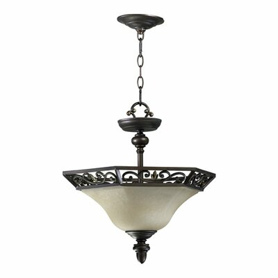 Quorum Marcela 2 Light Convertible Inverted Pendant