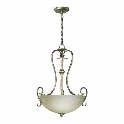 Quorum Powell 3 Light Inverted Pendant