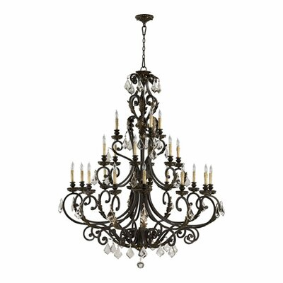Rio Salado 21 Chandelier in Toasted Sienna