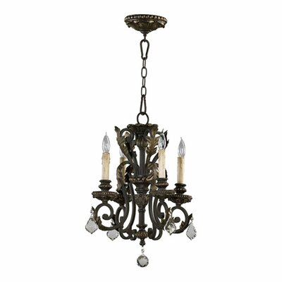 Quorum Rio Salado 4 Light Chandelier in Toasted Sienna